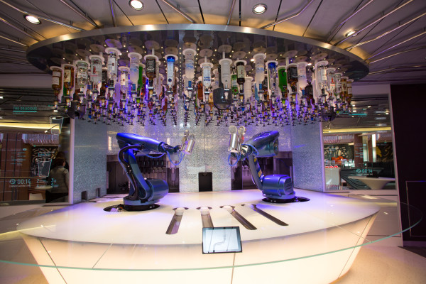 Royal Caribbean International launches Quantum of the Seas, the newest ship in the fleet, in November 2014  Bionic Bar.