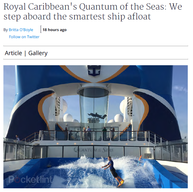 Pocket-lint – Royal Caribbean's Quantum of the Seas: We step aboard the smartest ship afloat