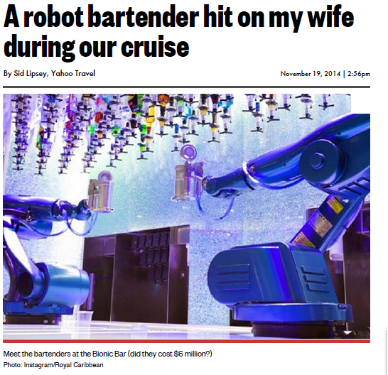 NYpost – A robot bartender hit on my wife