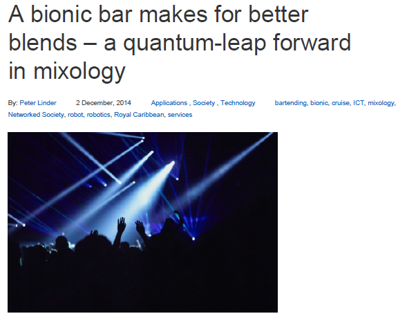 Ericsson – A bionic Bar makes for better blends – a quantum – leap forward in mixology