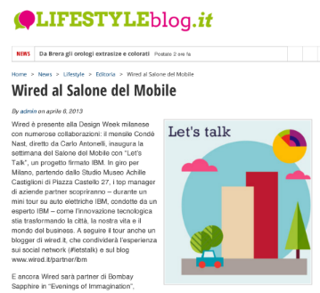 Wired al Salone del Mobile